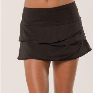 Lucky in Love Black Scallop Tennis Skirt